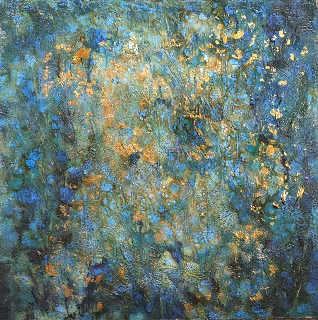 Art: Encaustic Flowers by Artist Ulrike 'Ricky' Martin