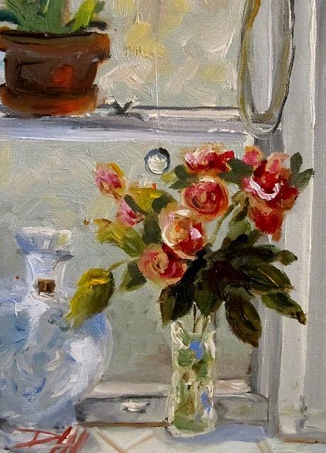 Art: Window Still lIfe by Artist Delilah Smith