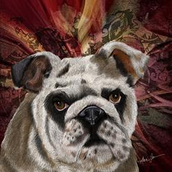 Art: Bulldog Crush by Artist Alma Lee
