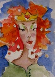Art: Queen of Hearts by Artist Delilah Smith