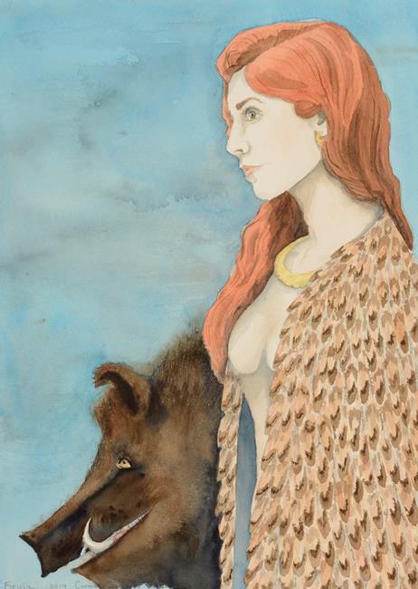 Art: Freyja by Artist Carmen Gamboa Lienkaemper