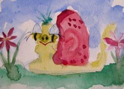 Art: Smiling Snail by Artist Delilah Smith