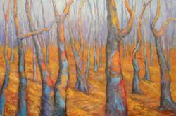 Art: Technicolor Forest by Artist Virginia Ann Zuelsdorf