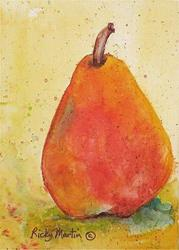 Art: Red Pear - Sold by Artist Ulrike 'Ricky' Martin