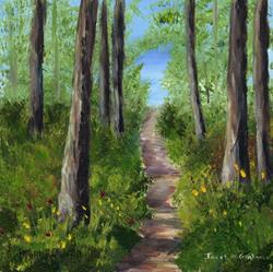 Art: Woodland Track by Artist Janet M Graham