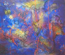 Art: Conditions Arise While Navigating Blue by Artist Virginia Ann Zuelsdorf