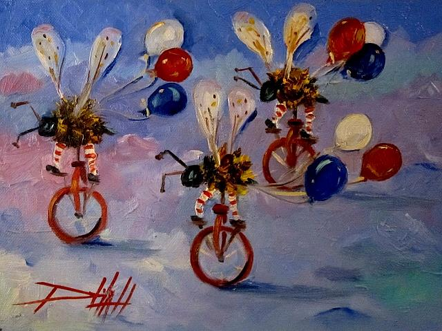 Art: Biker Bees on Parade by Artist Delilah Smith