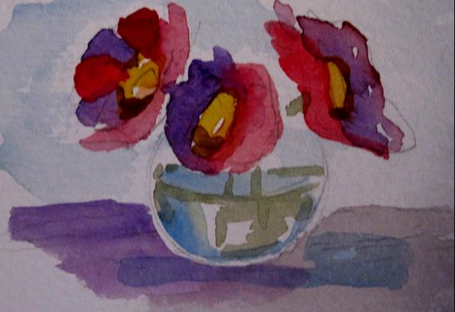 Art: Purple and Pink Flowers by Artist Delilah Smith