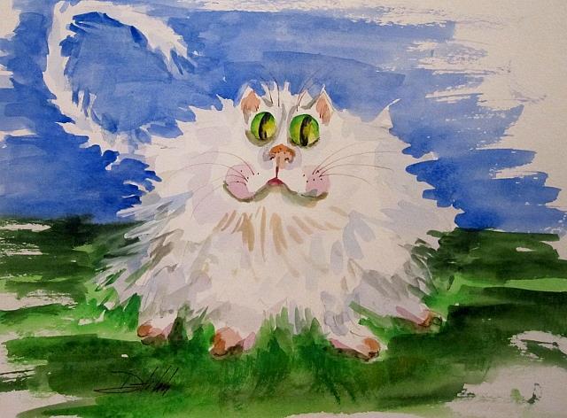 Art: Irish Cat by Artist Delilah Smith