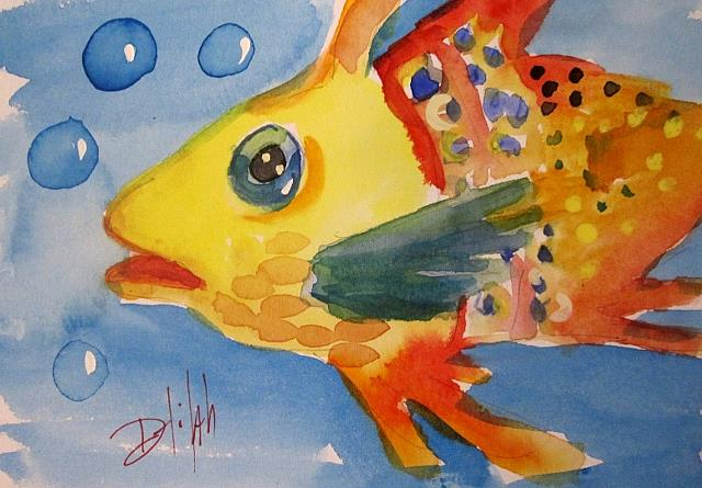 Art: Yellow Fish by Artist Delilah Smith