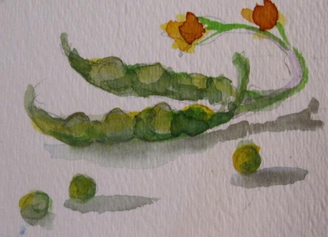 Art: Green Beans by Artist Delilah Smith
