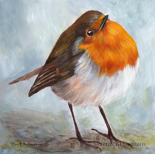 Art: Robin No 9 by Artist Janet M Graham
