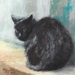Art: Feline Gaze by Artist Milena Gawlik