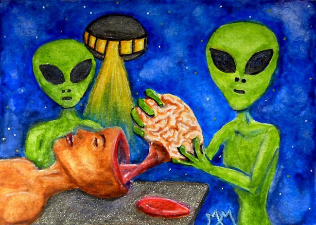 Art: Brain Harvest  (SOLD) by Artist Monique Morin Matson