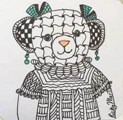 Art: Zentangle Inspired Teddy by Artist Ulrike 'Ricky' Martin