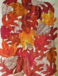 Art: Copper Leaves by Artist Jackie K. Hixon