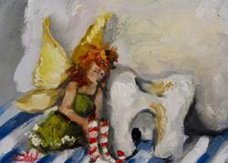 Art: Tired Tooth Fairy by Artist Delilah Smith
