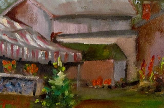 Art: Little Pink House by Artist Delilah Smith