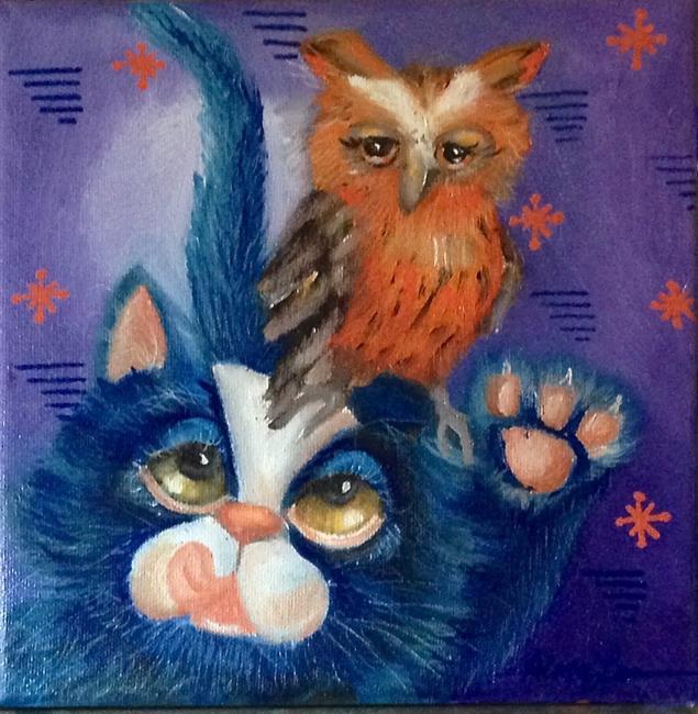 Art: Feelin Owlie by Artist Alma Lee