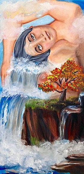 Art: As Tears, She Falls by Artist Alma Lee
