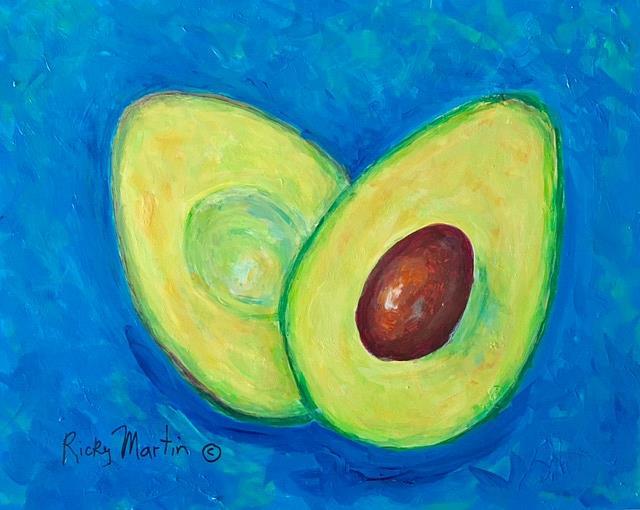 Art: Avocado by Artist Ulrike 'Ricky' Martin