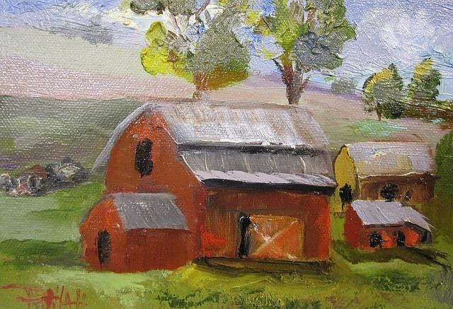 Art: American Barn-sold by Artist Delilah Smith