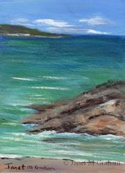 Art: Seascape 4 ACEO by Artist Janet M Graham