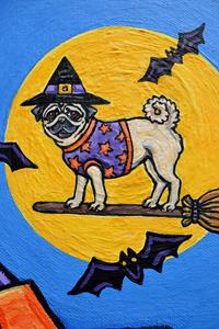 Detail Image for art Witchy Pugs