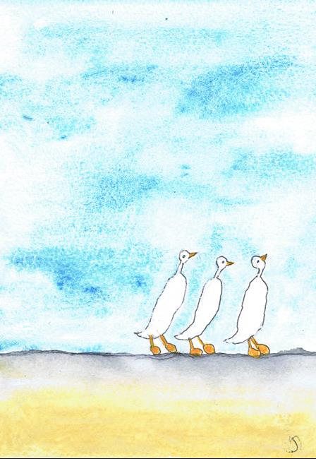Art: FORWARDS MARCH! b202 by Artist Dawn Barker