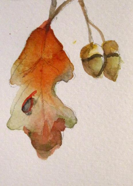 Art: Oak Leaf by Artist Delilah Smith