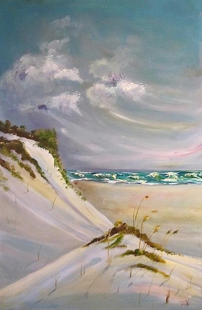 Art: Sand and Sea by Artist Delilah Smith
