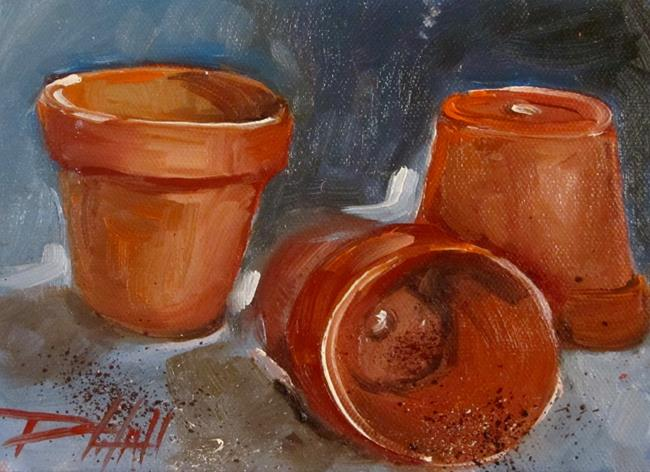 Art: Clay Pots by Artist Delilah Smith