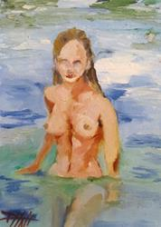 Art: Nude Swimmer by Artist Delilah Smith