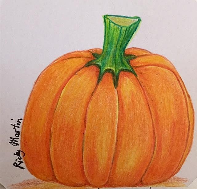 Art: Pumpkin by Artist Ulrike 'Ricky' Martin