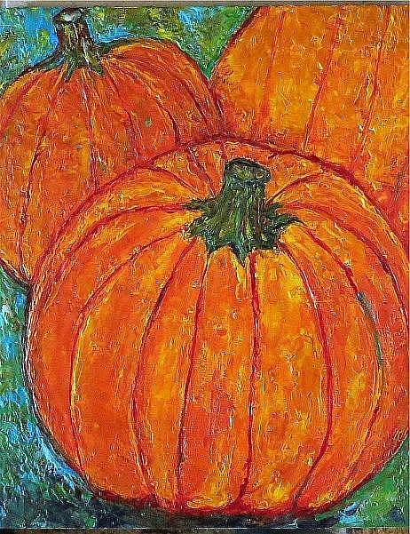 Art: Encaustic Pumpkins by Artist Ulrike 'Ricky' Martin