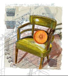 Art: Cinderella Chair by Artist Alma Lee