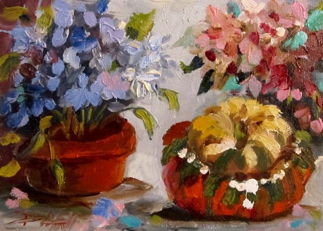 Art: Still Life with Turban Squash by Artist Delilah Smith