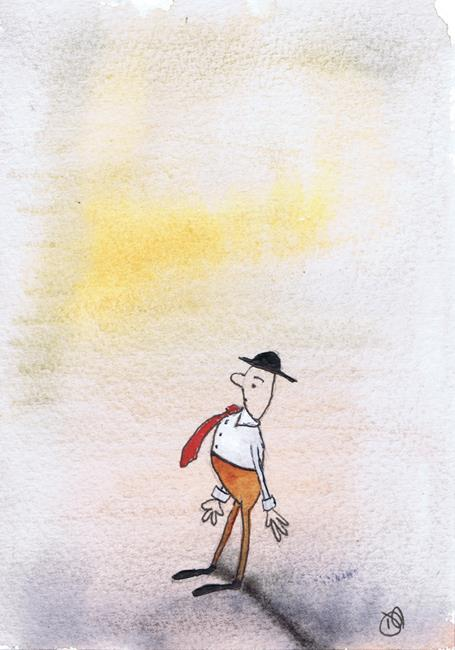 Art: MAN IN THE HAT p302 by Artist Dawn Barker