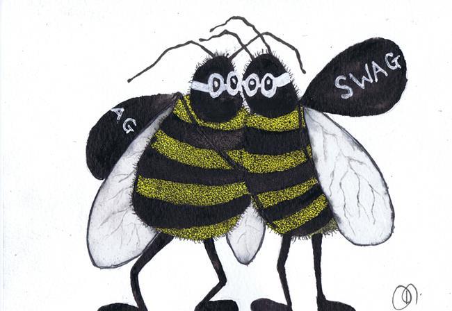 Art: BEE SWAG bee101 by Artist Dawn Barker