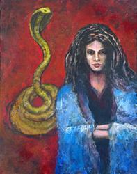 Art: Wraith with Cobra by Artist Virginia Ann Zuelsdorf
