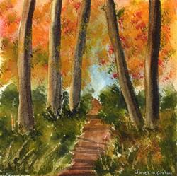 Art: Autumn Woods by Artist Janet M Graham