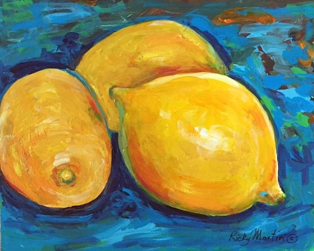 Art: Fresh Lemons by Artist Ulrike 'Ricky' Martin