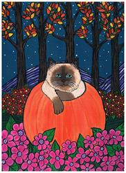 Art: PUMPKIN CAT by Artist Kimberly Anne Bailey