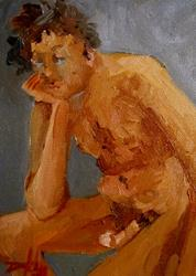 Art: Male Nude by Artist Delilah Smith