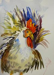 Art: Regal Rooster by Artist Delilah Smith