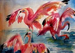Art: Scarlet Ibis by Artist Delilah Smith