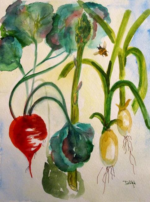 Art: Organic Vegtables by Artist Delilah Smith