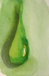Art: Green Rain Drop by Artist Delilah Smith