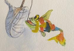 Art: Rainbow Trout by Artist Delilah Smith