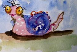 Art: Pink Snail by Artist Delilah Smith